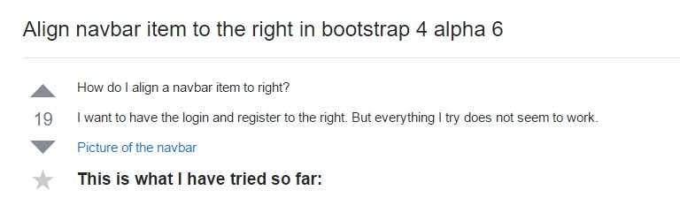 Adjust navbar  object to the right  within Bootstrap 4 alpha 6