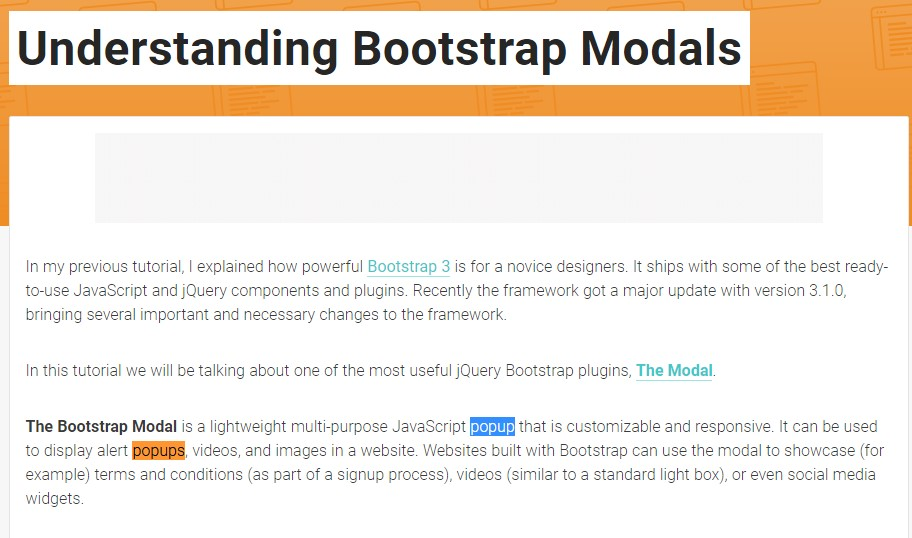 An additional useful article  relating to Bootstrap Modal Popup
