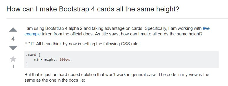 Insights on  exactly how can we  set up Bootstrap 4 cards  all the same  height?