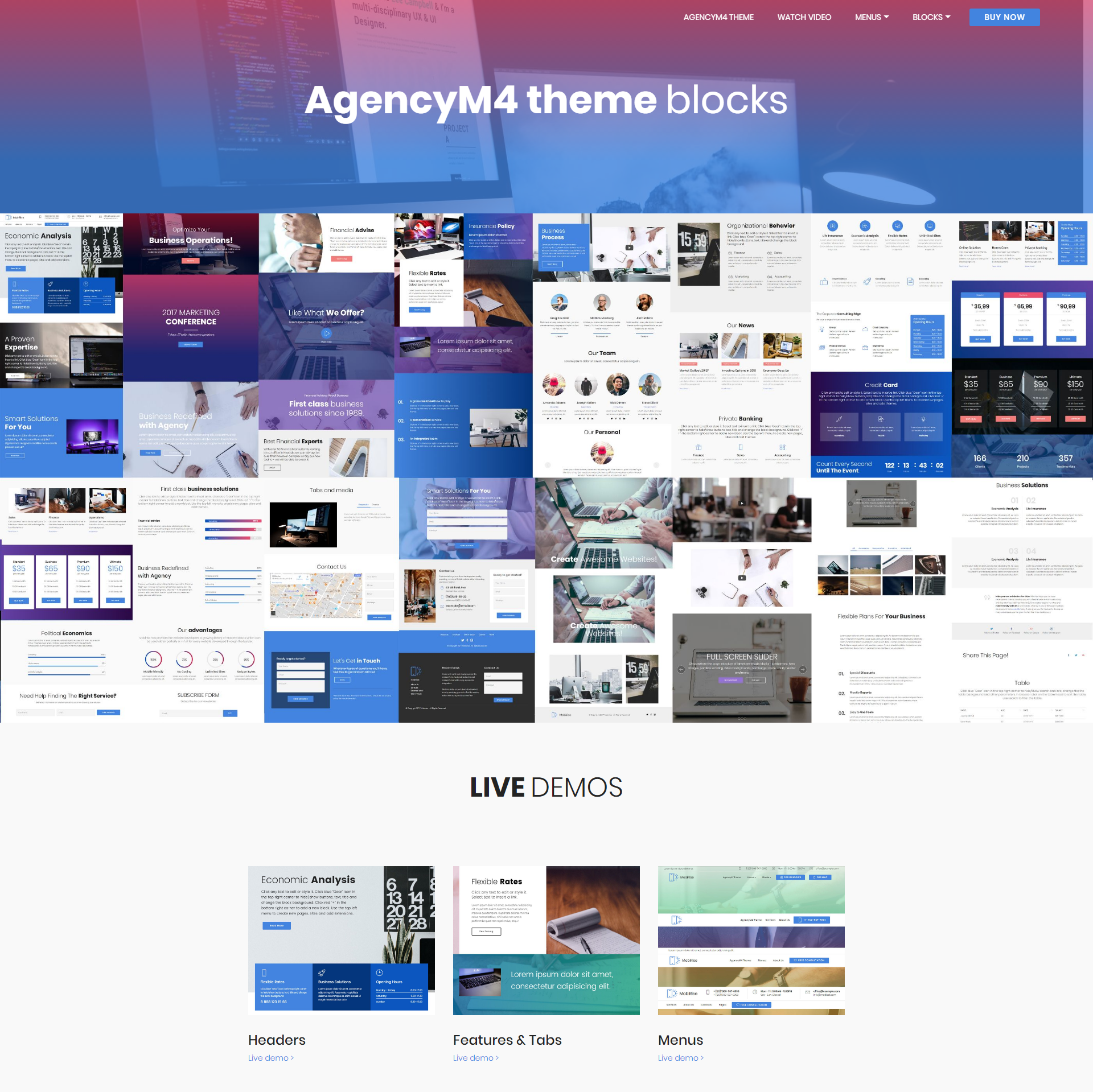 Responsive Bootstrap AgencyM4 Themes