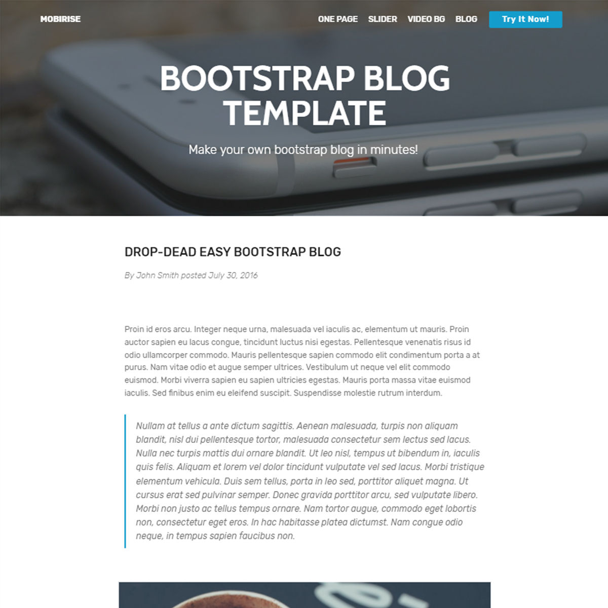 Free Bootstrap Blog Themes