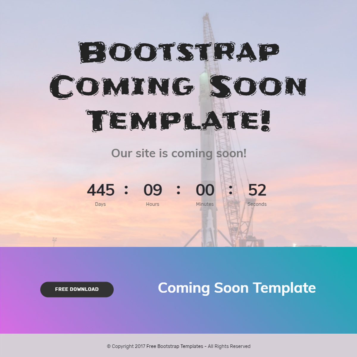HTML5 Bootstrap Coming Soon Themes