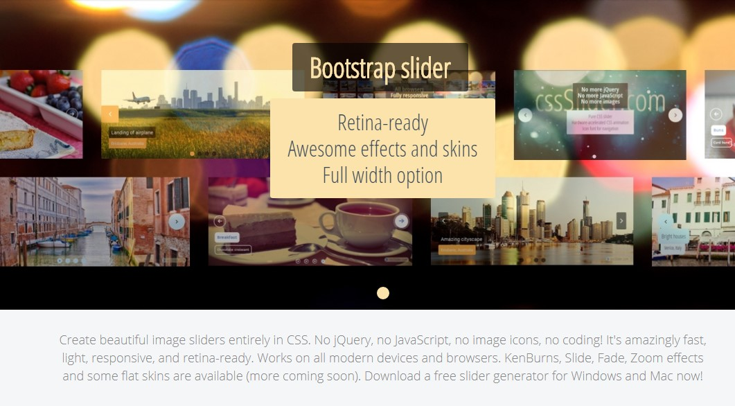 Bootstrap Slider With Thumbnail Navigation