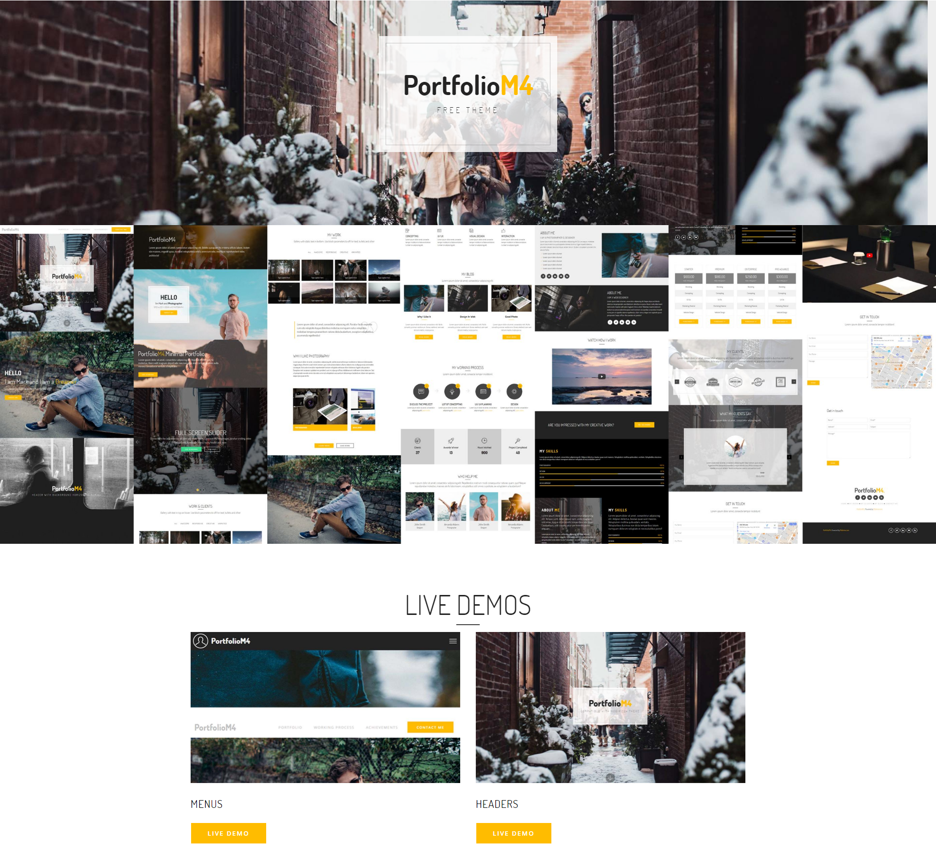 Free Download Bootstrap PortfolioM4 Templates