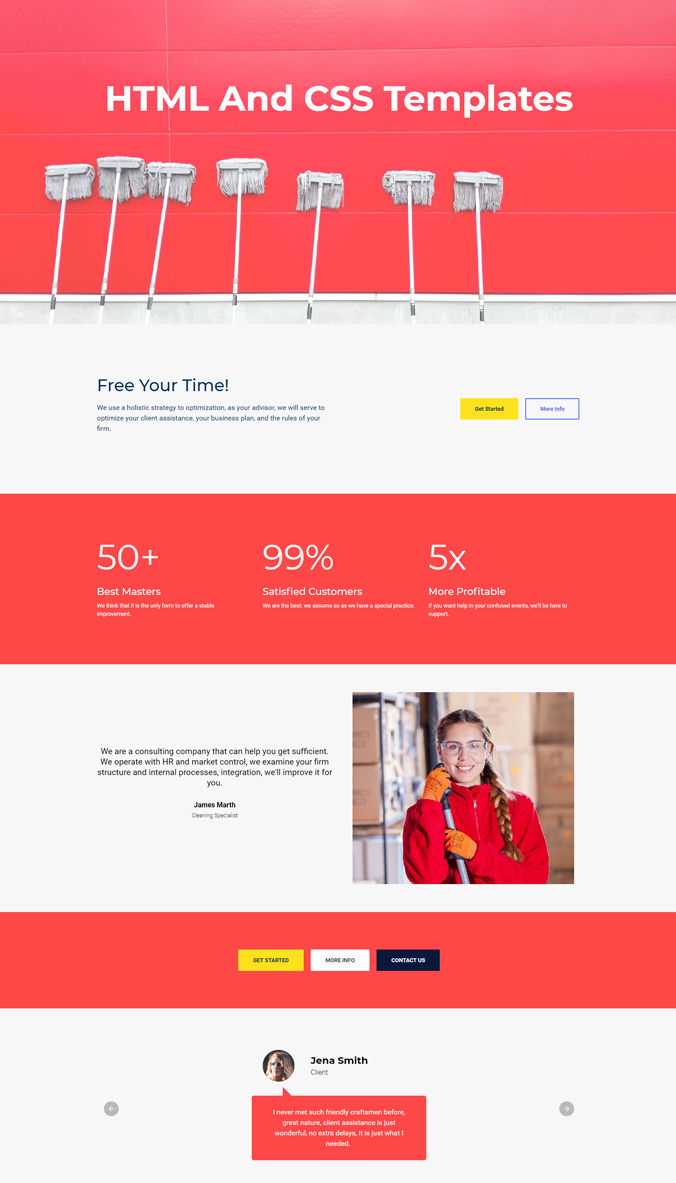 Beautiful Template for Website