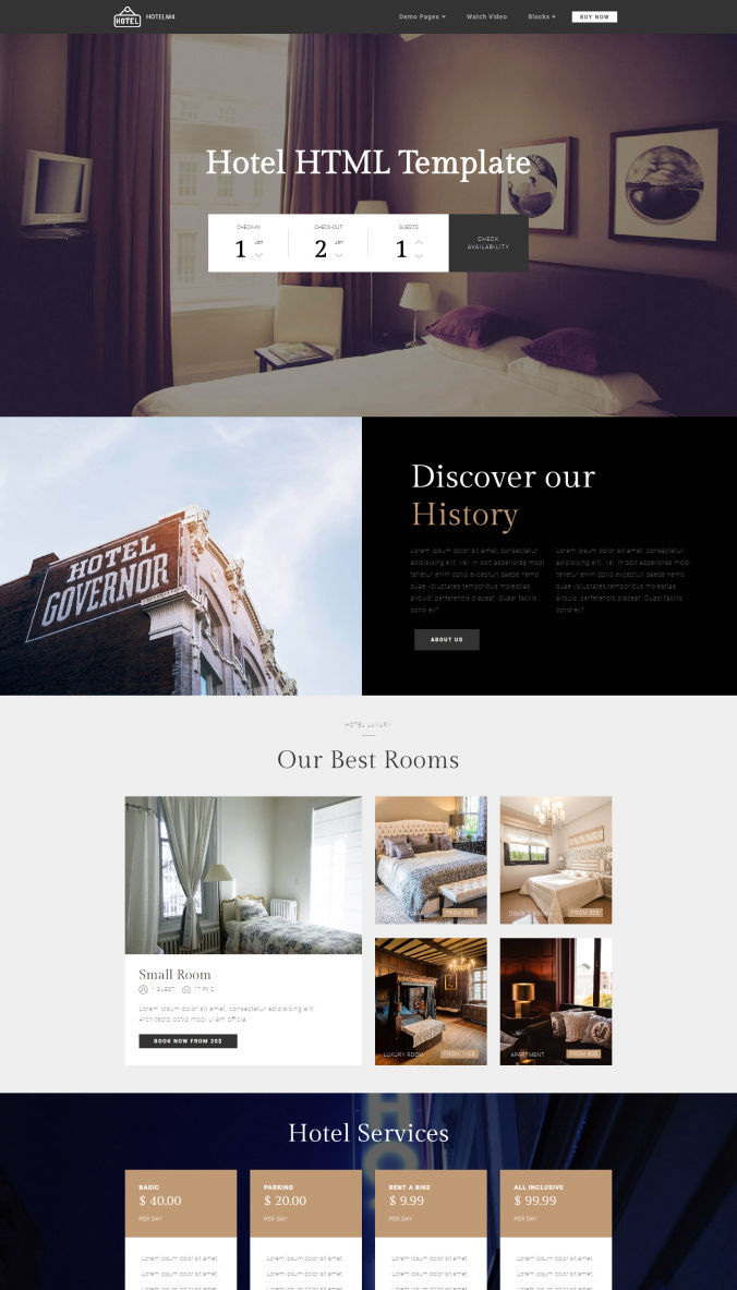 CSS Template for Website